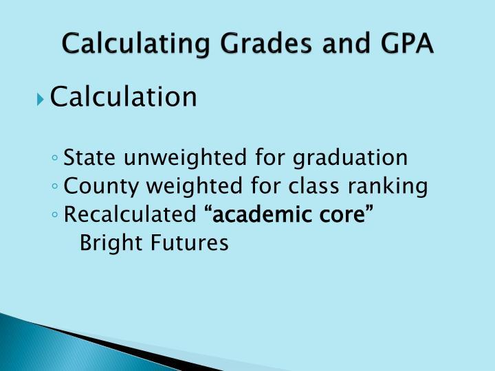 Calculating Grades and GPA