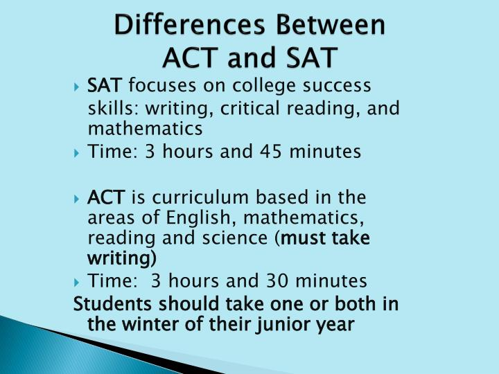 Differences Between ACT and SAT
