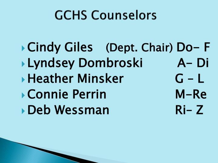 GCHS Counselors