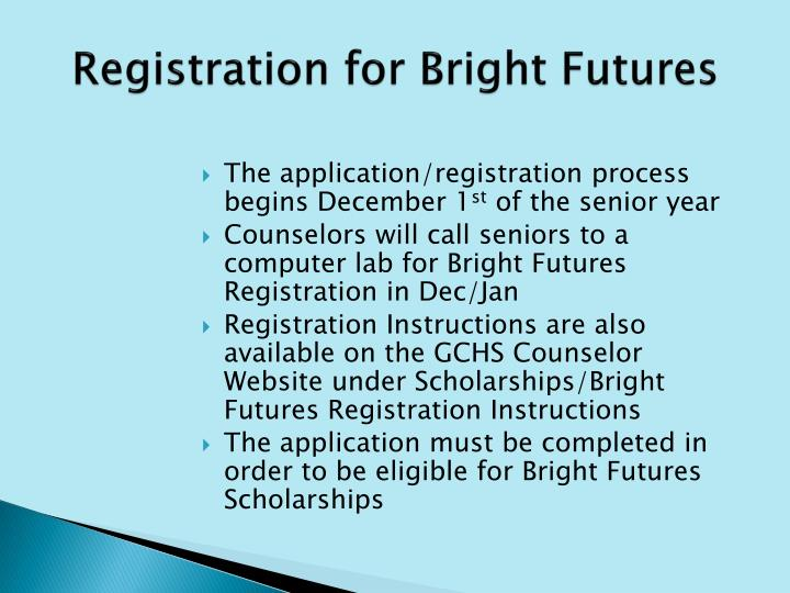Registration for Bright Futures