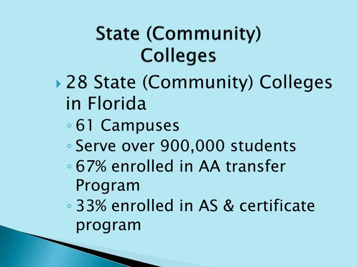 State (Community) Colleges