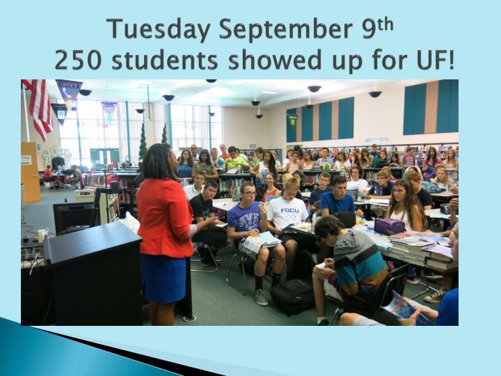 Tuesday September 9
