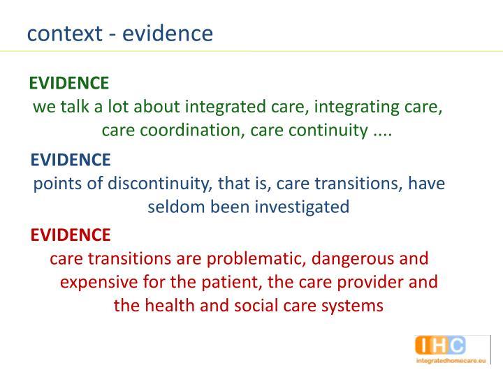 context - evidence