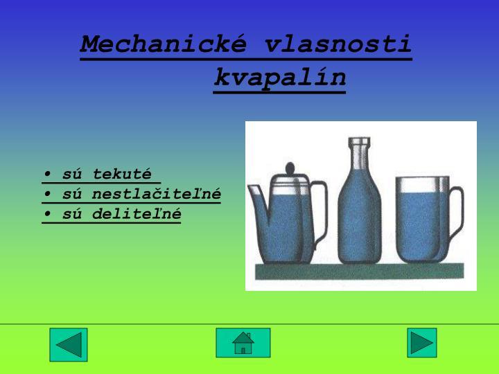 Mechanické vlasnosti