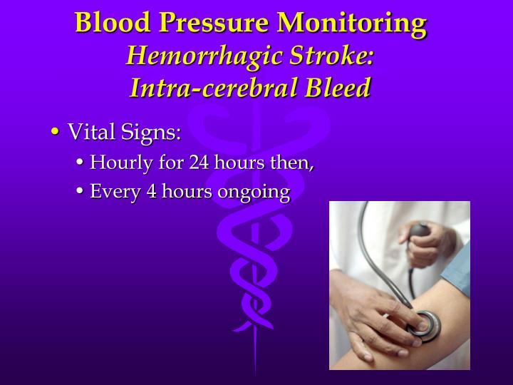 Blood Pressure Monitoring