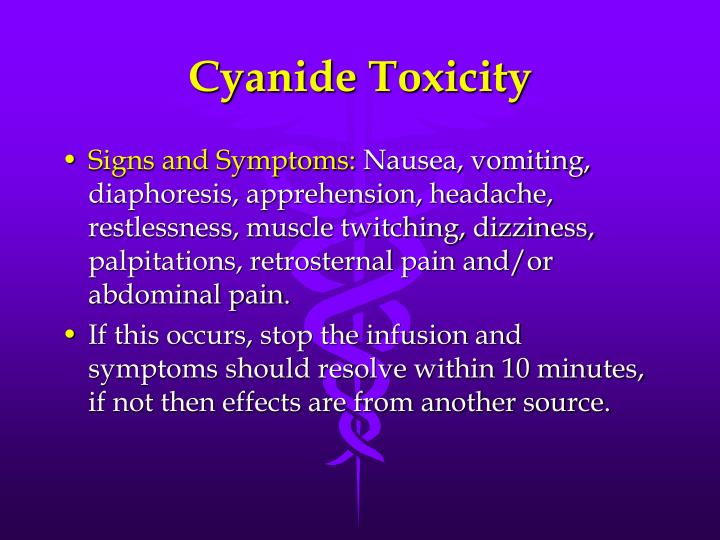Cyanide Toxicity