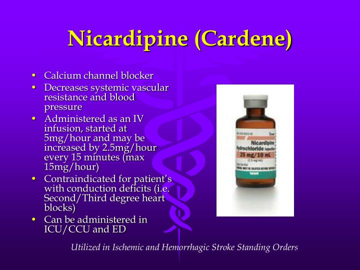 Nicardipine (Cardene)