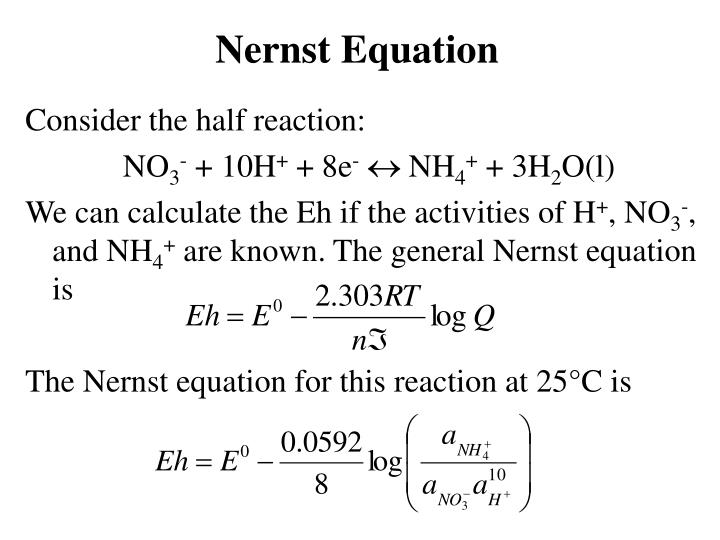Nernst Equation