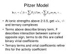 pitzer model