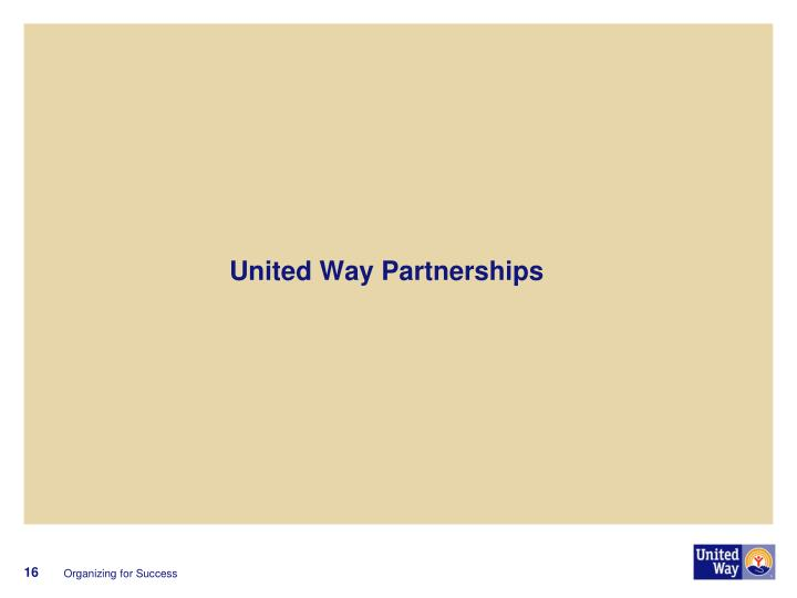 United Way Partnerships