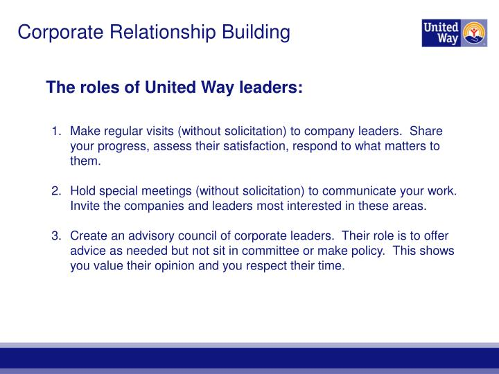 Corporate Relationship Building