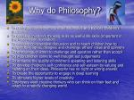 why do philosophy