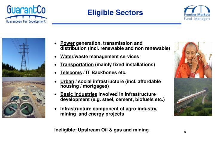Eligible Sectors