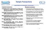 sample transactions amounts quoted are the us equivalent of local currency