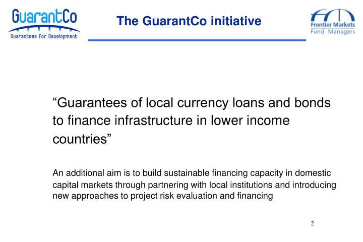 The GuarantCo initiative