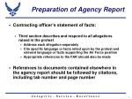 preparation of agency report6