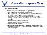 preparation of agency report7