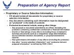 preparation of agency report8