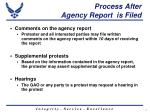 process after agency report is filed
