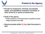 protest to the agency