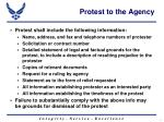 protest to the agency2