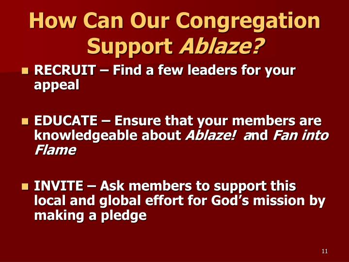 How Can Our Congregation Support