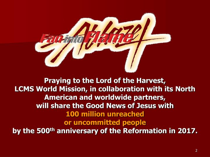 Praying to the Lord of the Harvest,