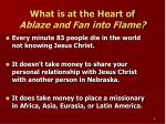 what is at the heart of ablaze and fan into flame