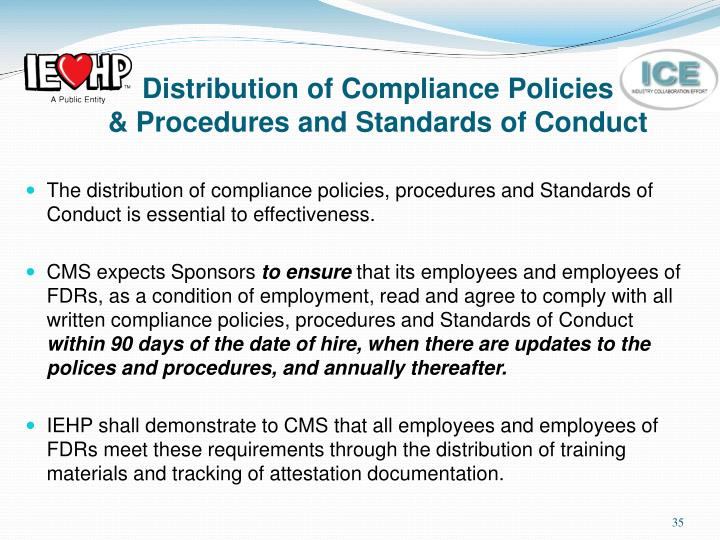 Distribution of Compliance Policies