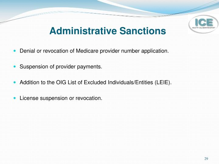 Administrative Sanctions