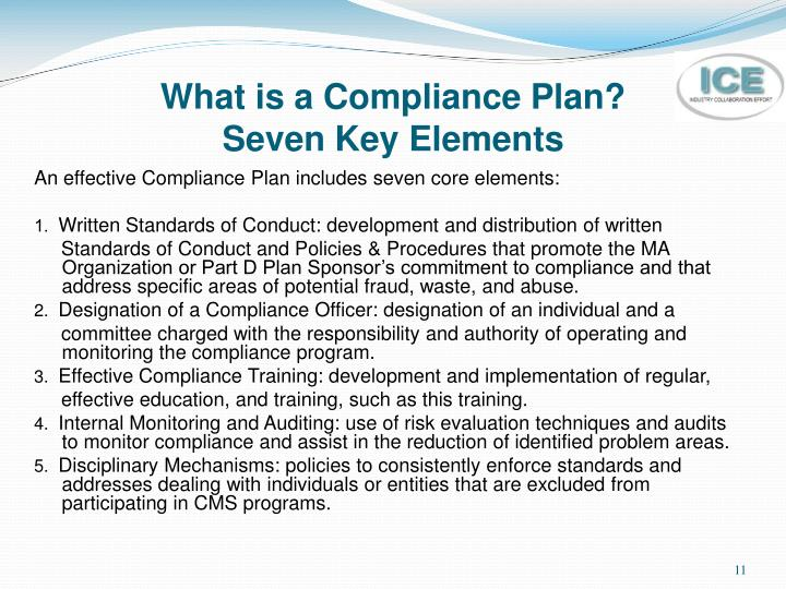 What is a Compliance Plan?