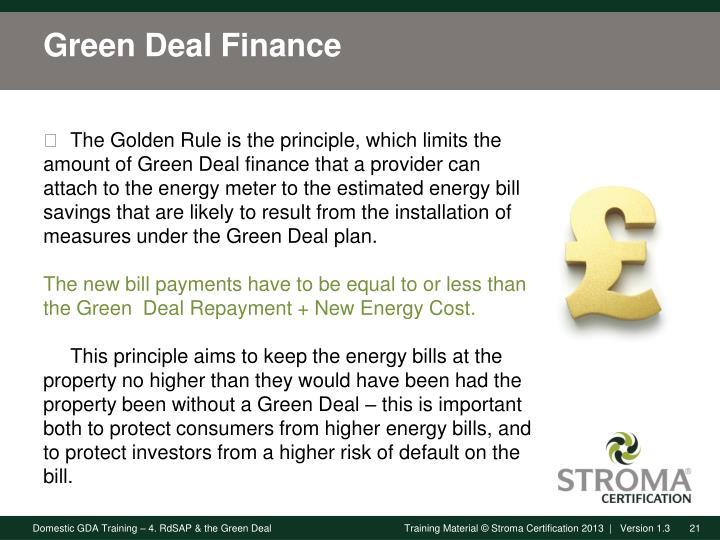 Green Deal Finance
