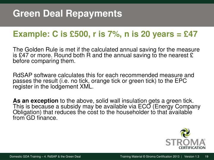 Green Deal Repayments