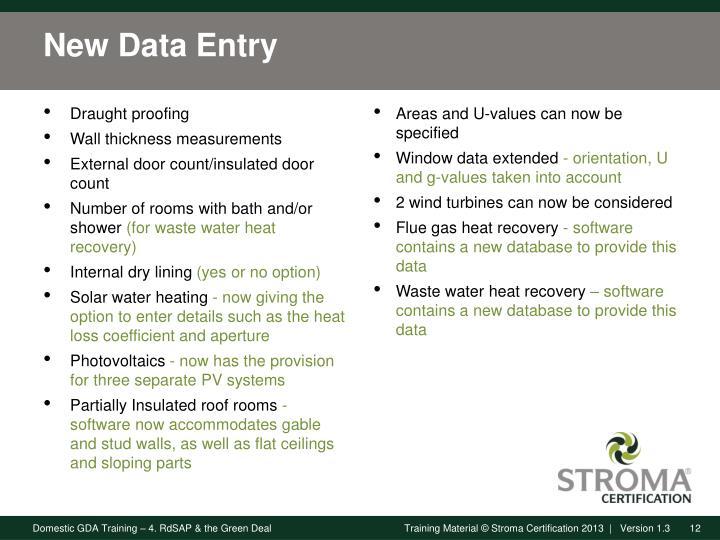 New Data Entry