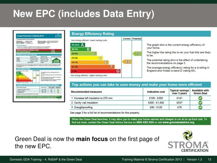 New EPC (includes Data Entry)