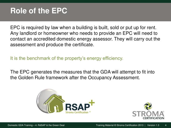 Role of the EPC