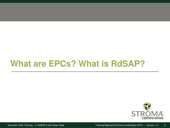 What are EPCs? What is RdSAP?