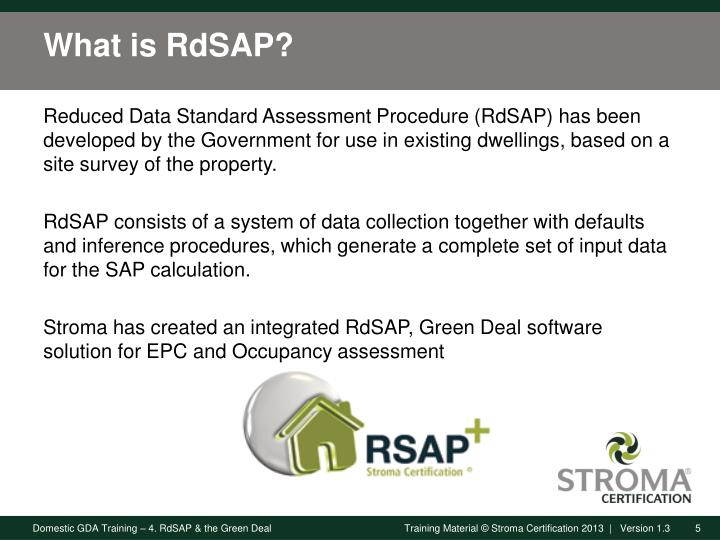 What is RdSAP?