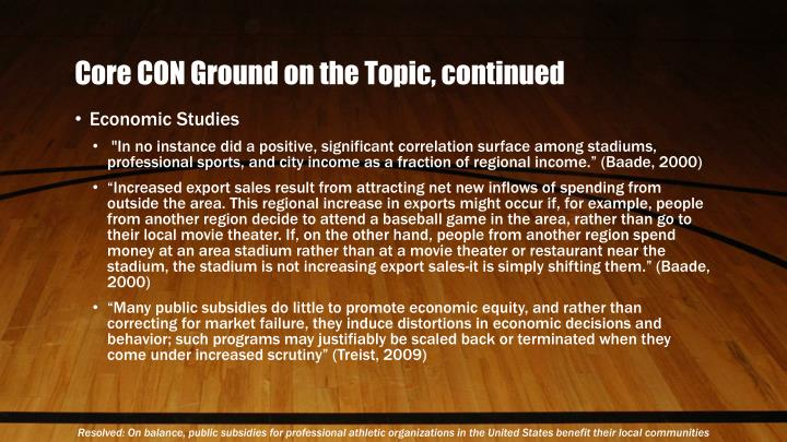 Core CON Ground on the