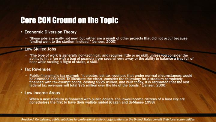Core CON Ground on the Topic