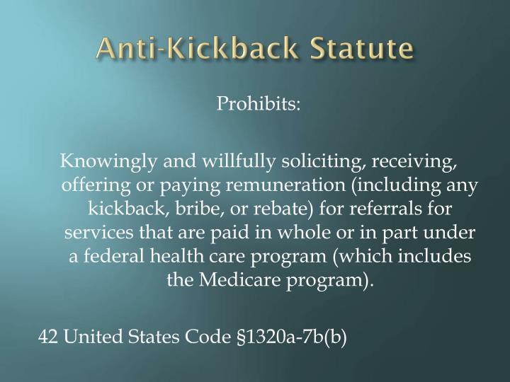 Anti-Kickback Statute