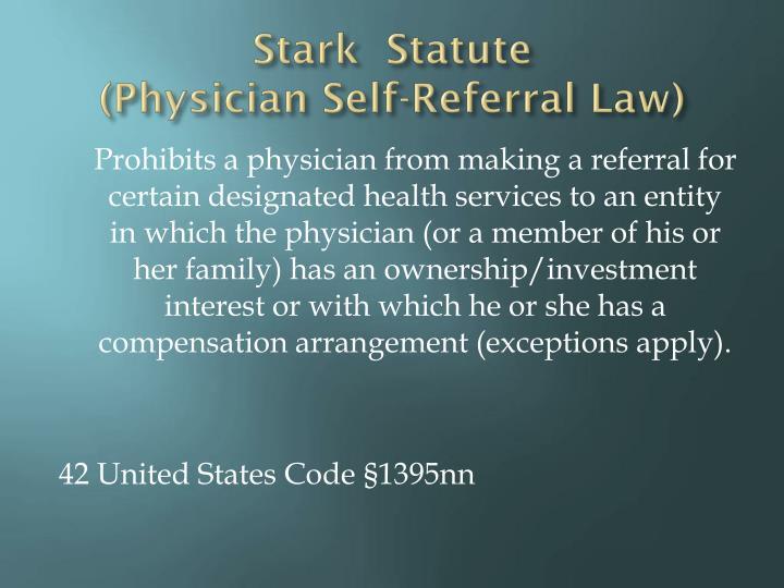 Stark  Statute