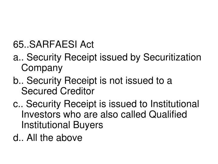 65..SARFAESI Act