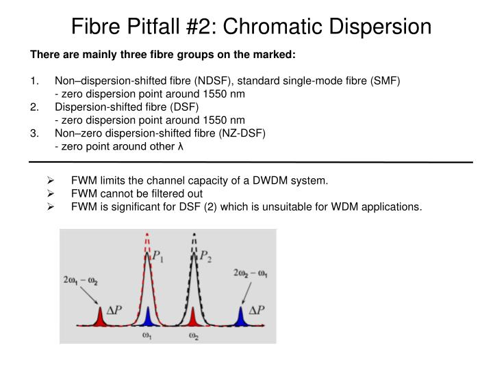 Fibre Pitfall #2: Chromatic Dispersion