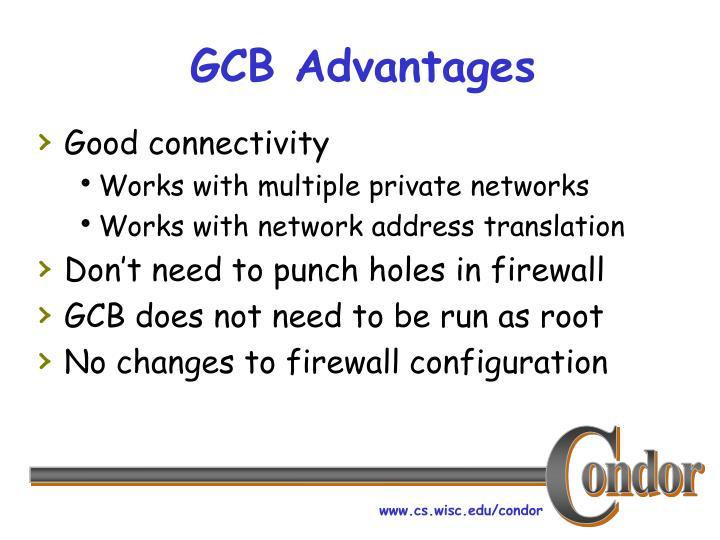 GCB Advantages
