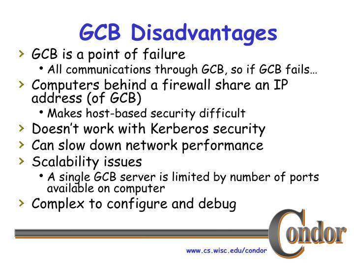 GCB Disadvantages
