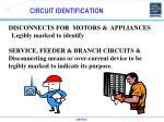 circuit identification