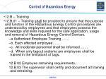 control of hazardous energy5