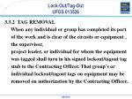 lock out tag out ufgs 0135262