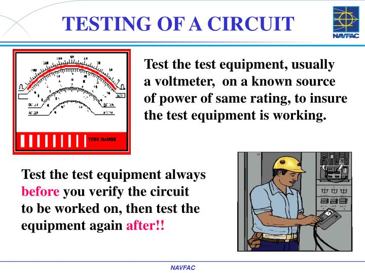 TESTING OF A CIRCUIT